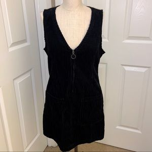 NWT Forever 21 Corduroy Zip up Dress Medium